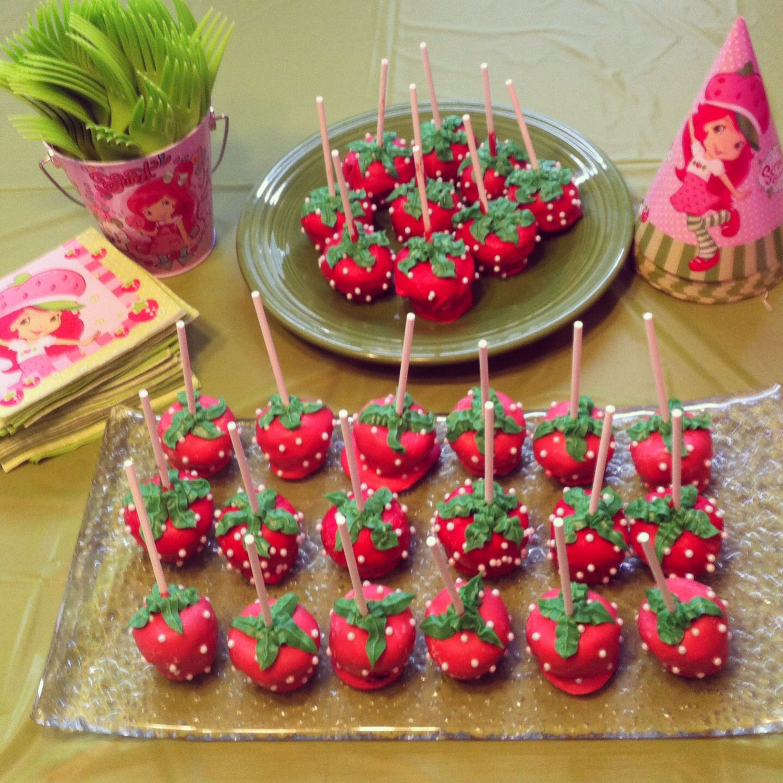 Strawberry Shortcake Cake Pops