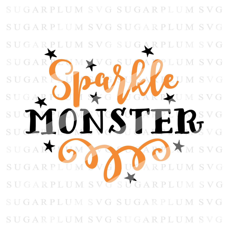 Halloween SVG, Sparkle Monster SVG, Fall SVG, Halloween