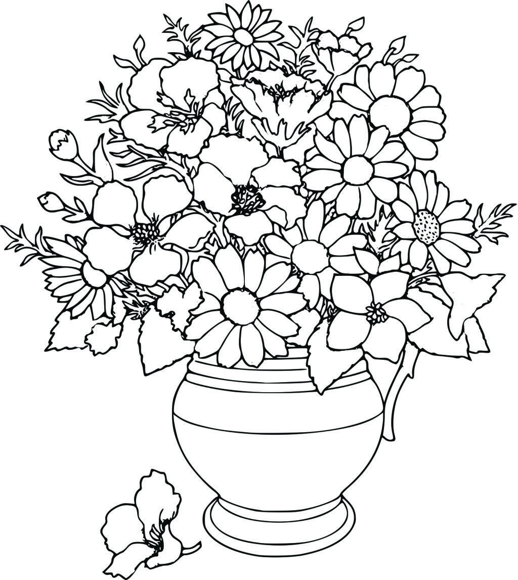 Flowers Coloring Sheet Coloring Pages Pinterest Flowers