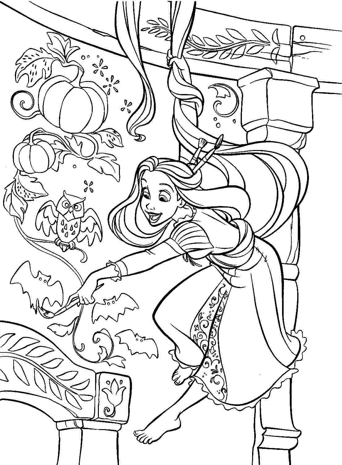 free printable coloring pages disney princess tangled