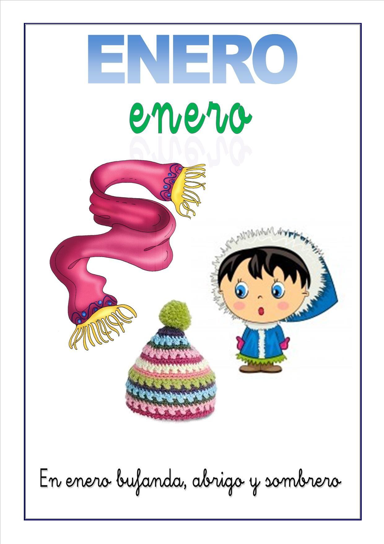 Cartel Con El Mes De Enero Para Ninos 1 240 1 754