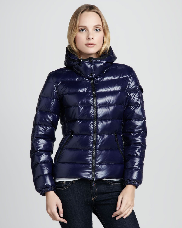 Moncler Bady Short Puffer Jacket in Blue Down Jacket