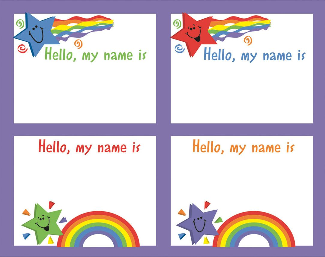 Names Tags For Kids