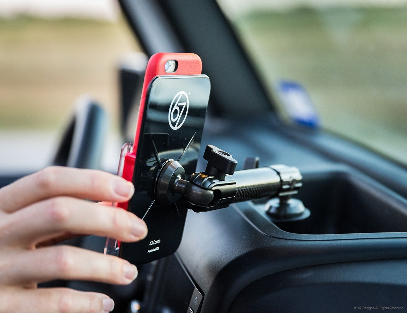 (CF) Carbon Fiber Series Jeep JK Mount for iPhone 6/6S