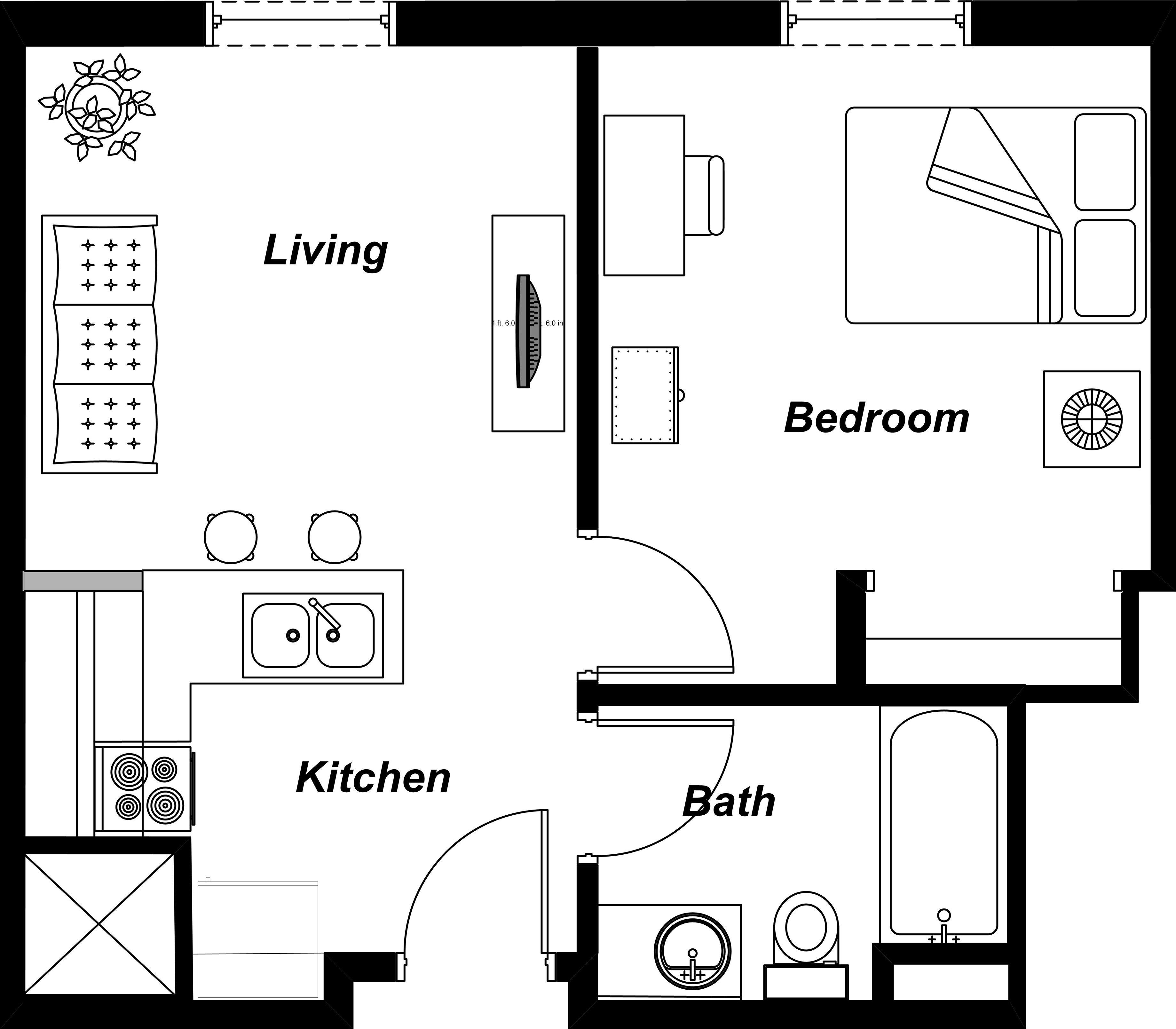 Apartment Romantic Studio Apartment Floor Plans In Astoria