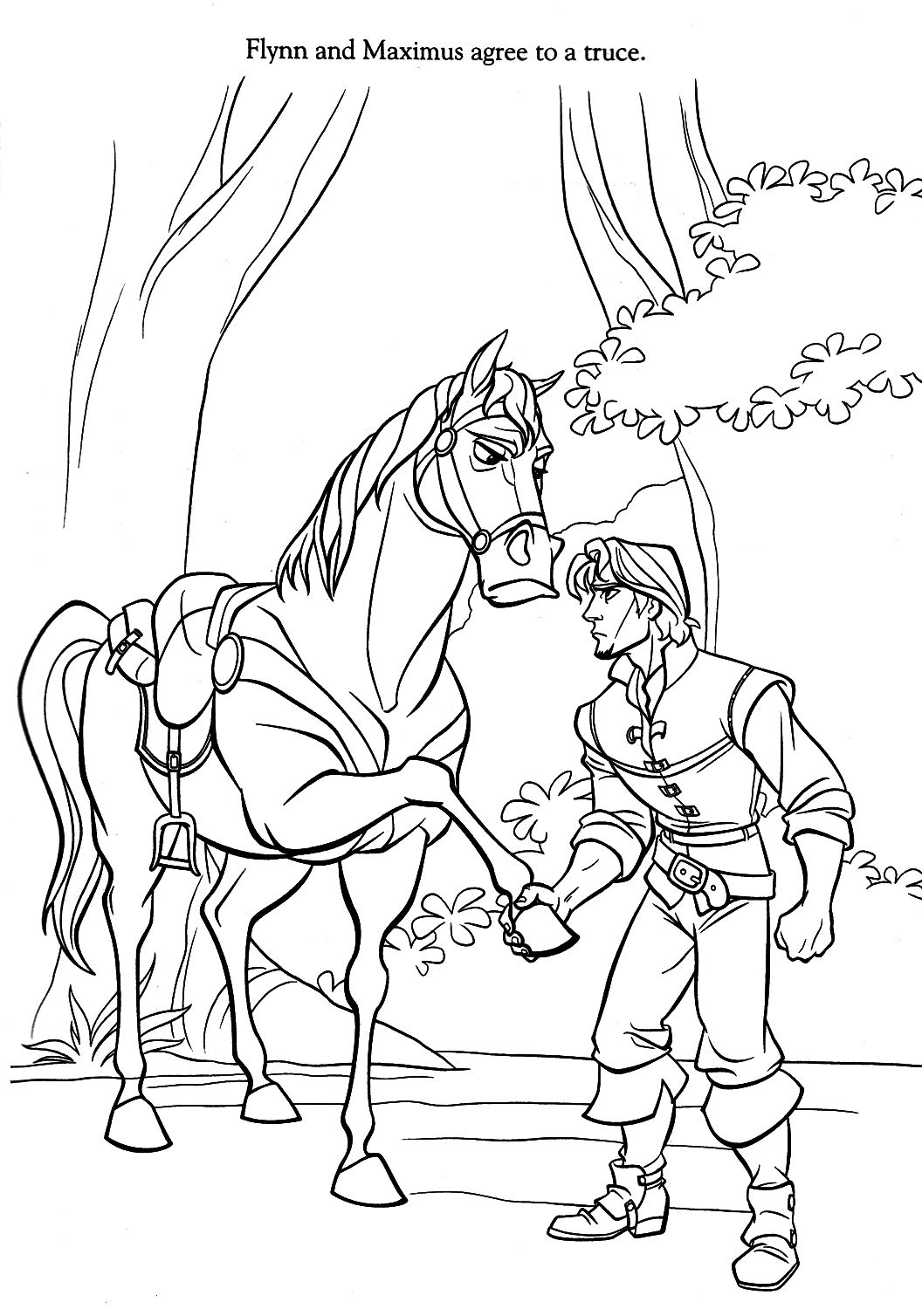 Tangled Maximus Coloring Pages Evkd