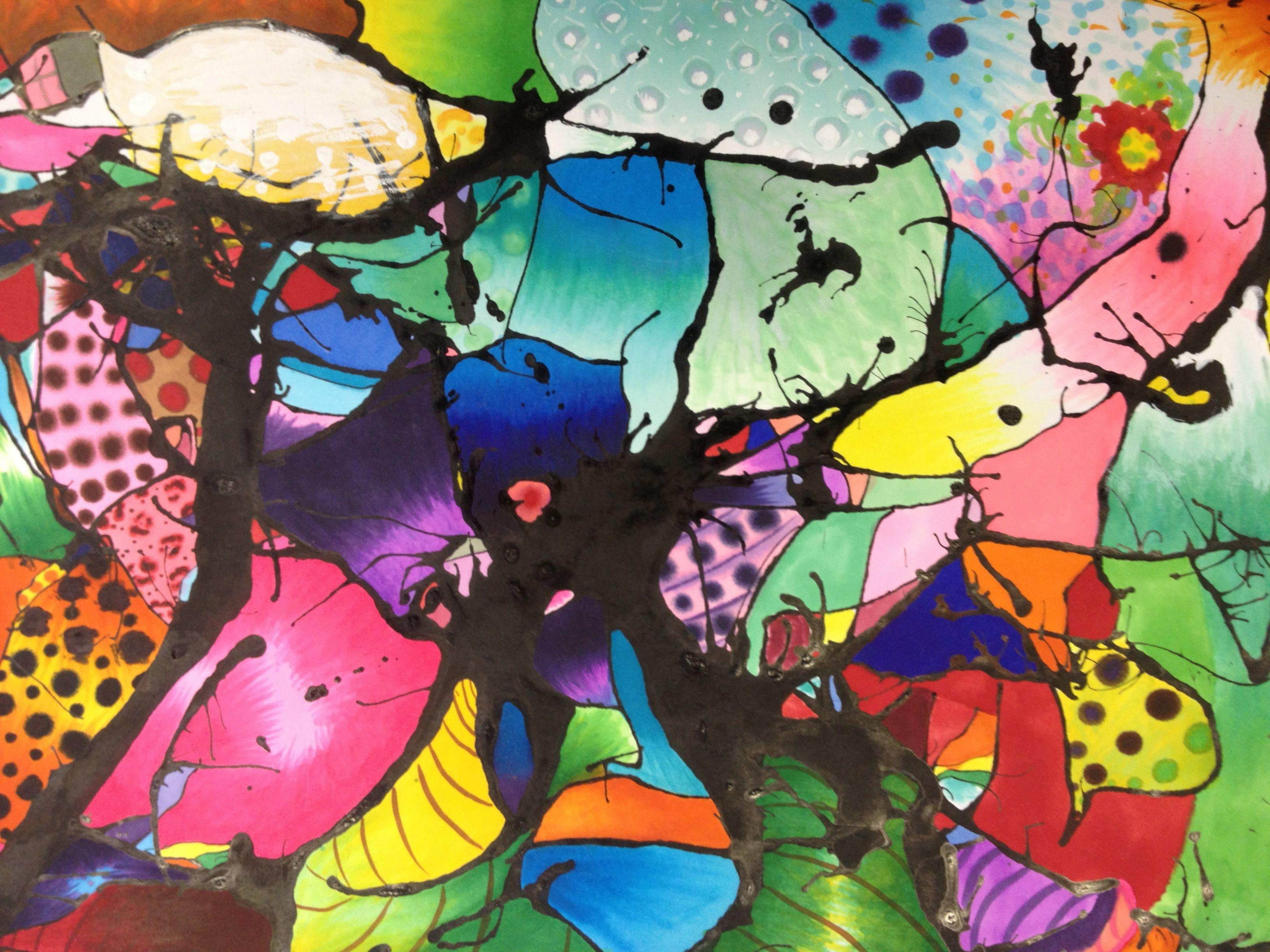Abstract Art By Yume Grade 7 Art Ideas