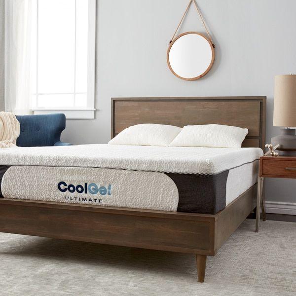 Postureloft 14 Inch Queen Size Gel Memory Foam Mattress With 2 Bonus Pillows Furniture Outletonline