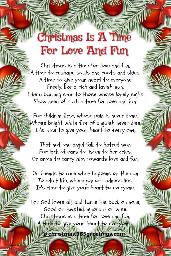 Short Christmas Poems Poem and Craft