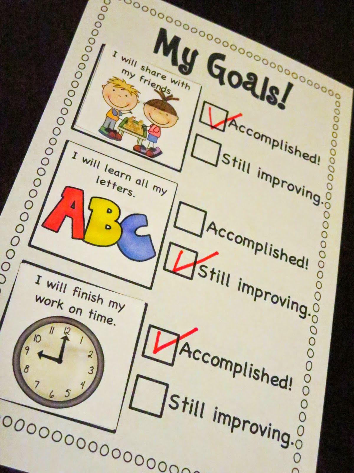 Goal Setting Checklist Freebie Mrs Ricca S Kindergarten