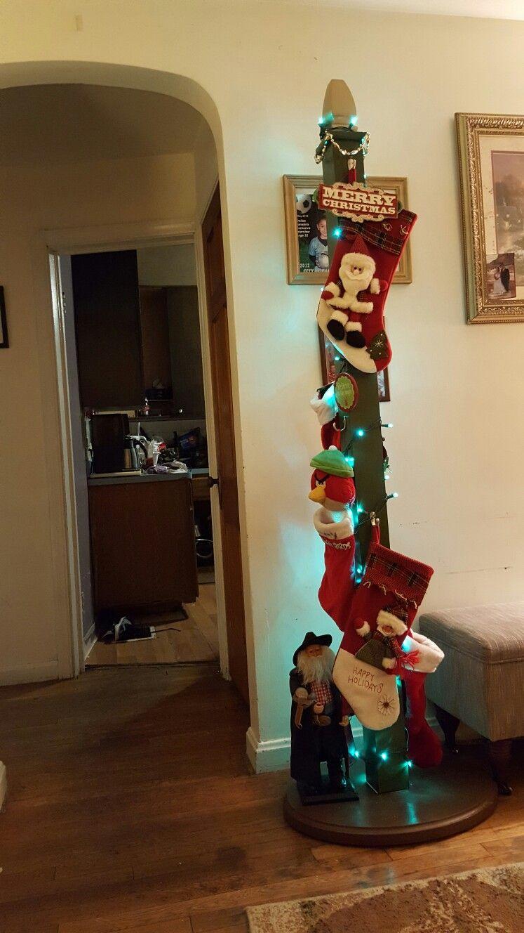 free standing Christmas Stocking holder holiday fun