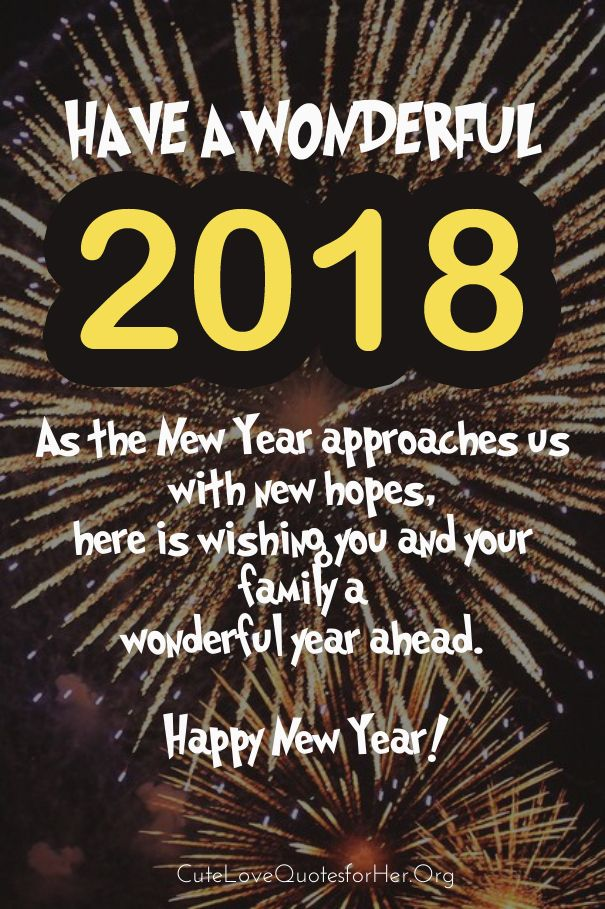 New Year Greeting Cards 2018 Happy New Year 2018 Wishes