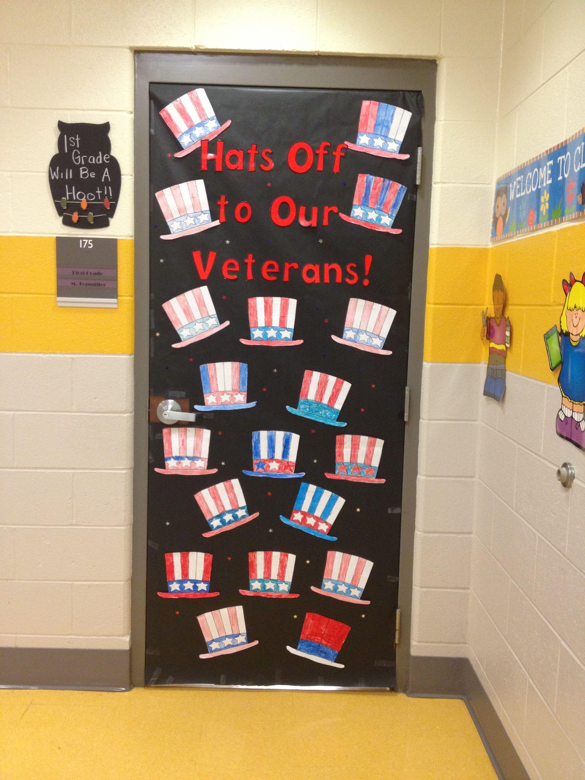 Veterans Day Door Idea
