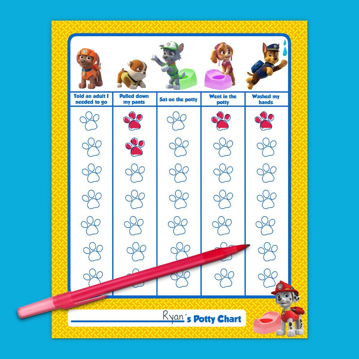 Paw Patrol Preschool Printable Worksheet Letters
