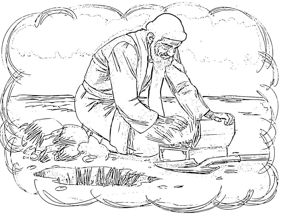Parables Of The Pearl And Hidden Treasure Coloring Pages