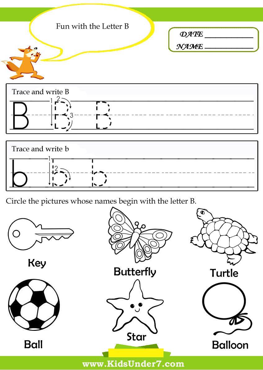 Kids Under 7 Alphabet Tracing Pages ingles español