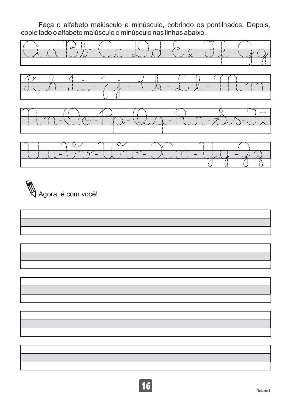 Espaco Saber Infantil Caderno De Caligrafia Volume 3