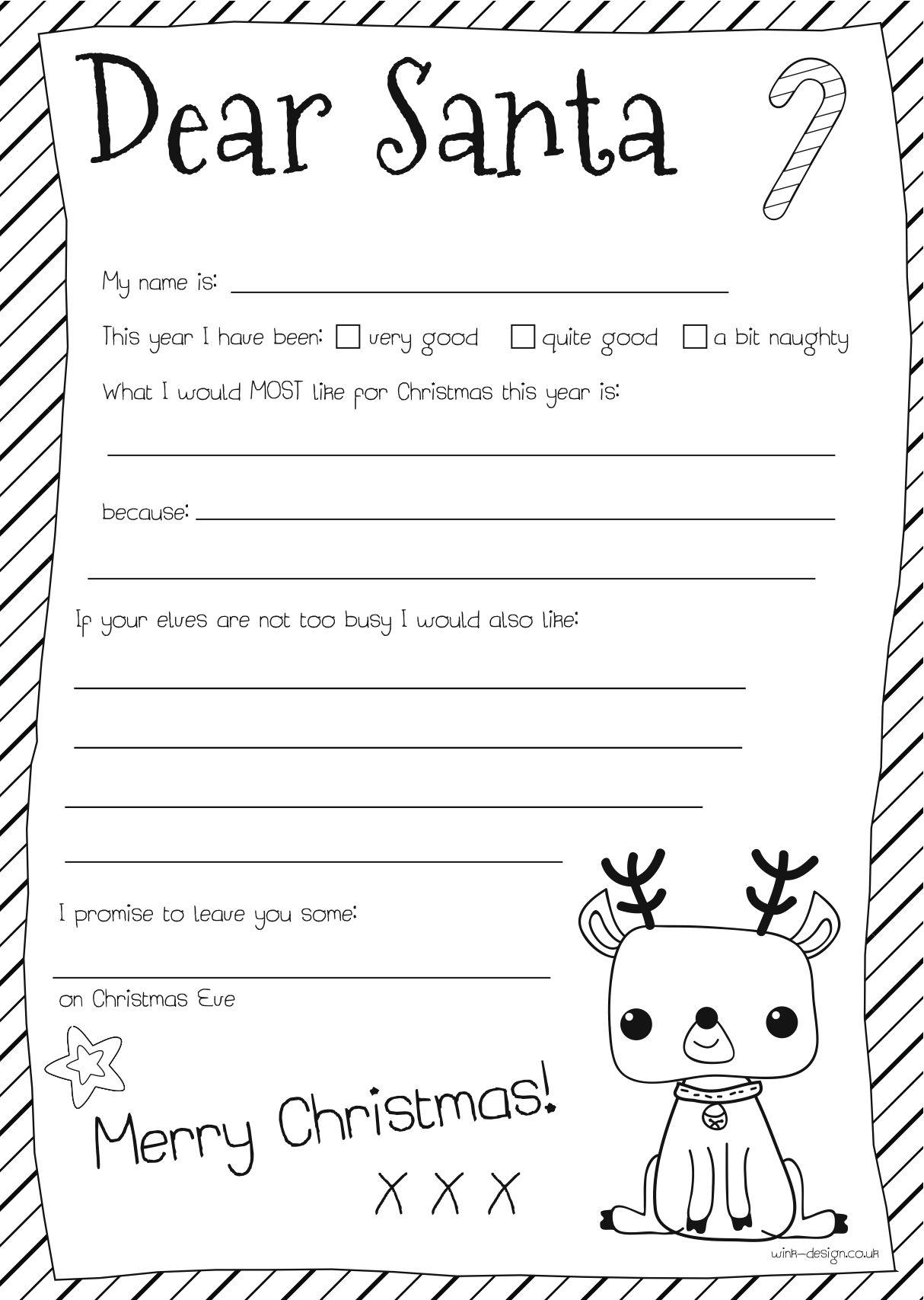 Dear Santa Letter