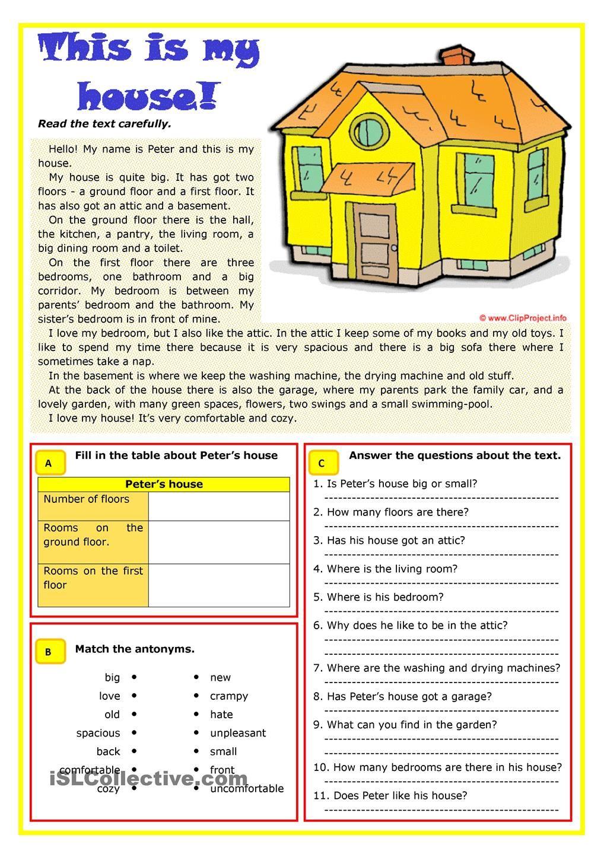 student housing vocabulary list Buscar con Google