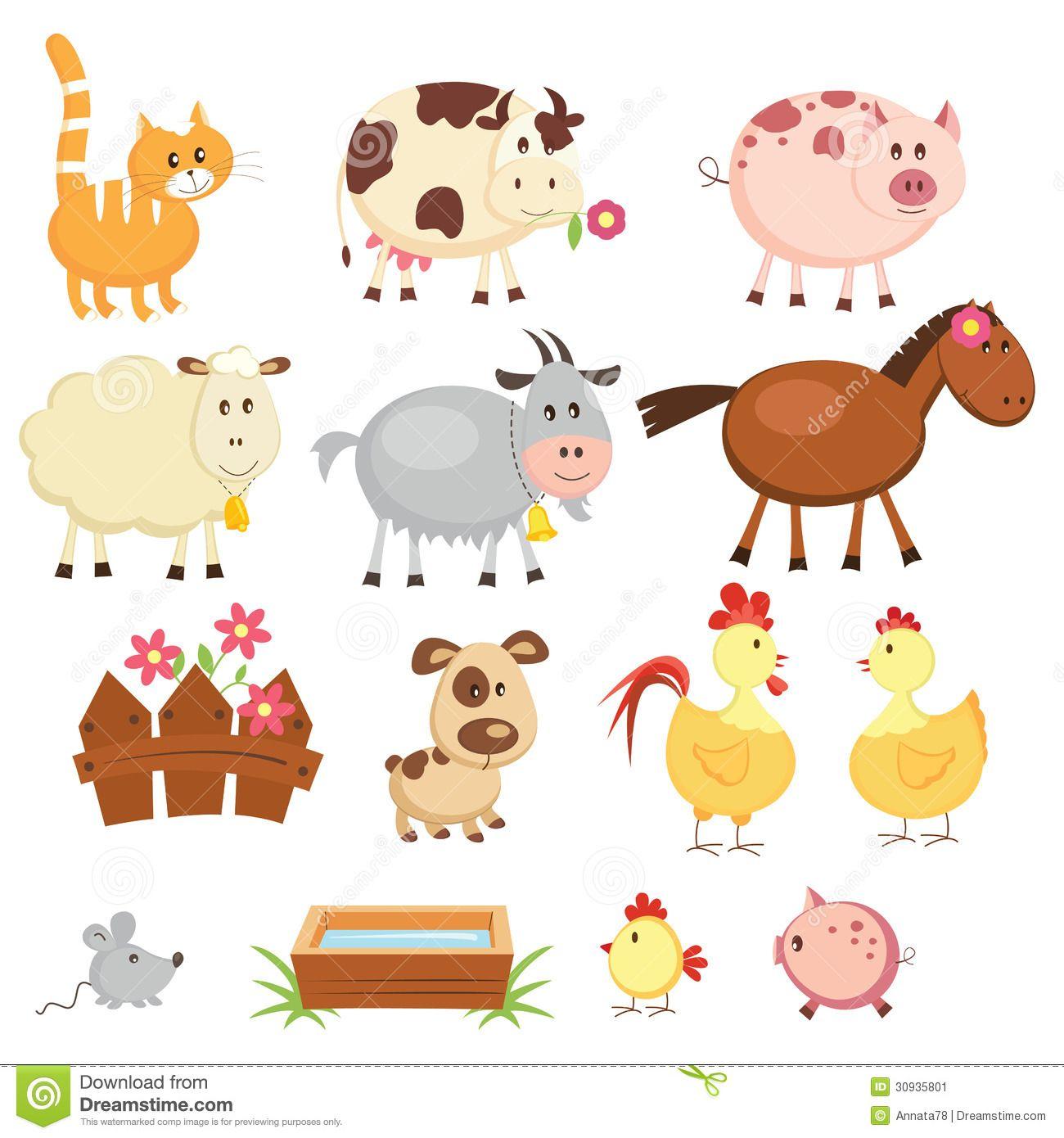 farm animal cartoon pictures Googlehaku Eläinkuvia