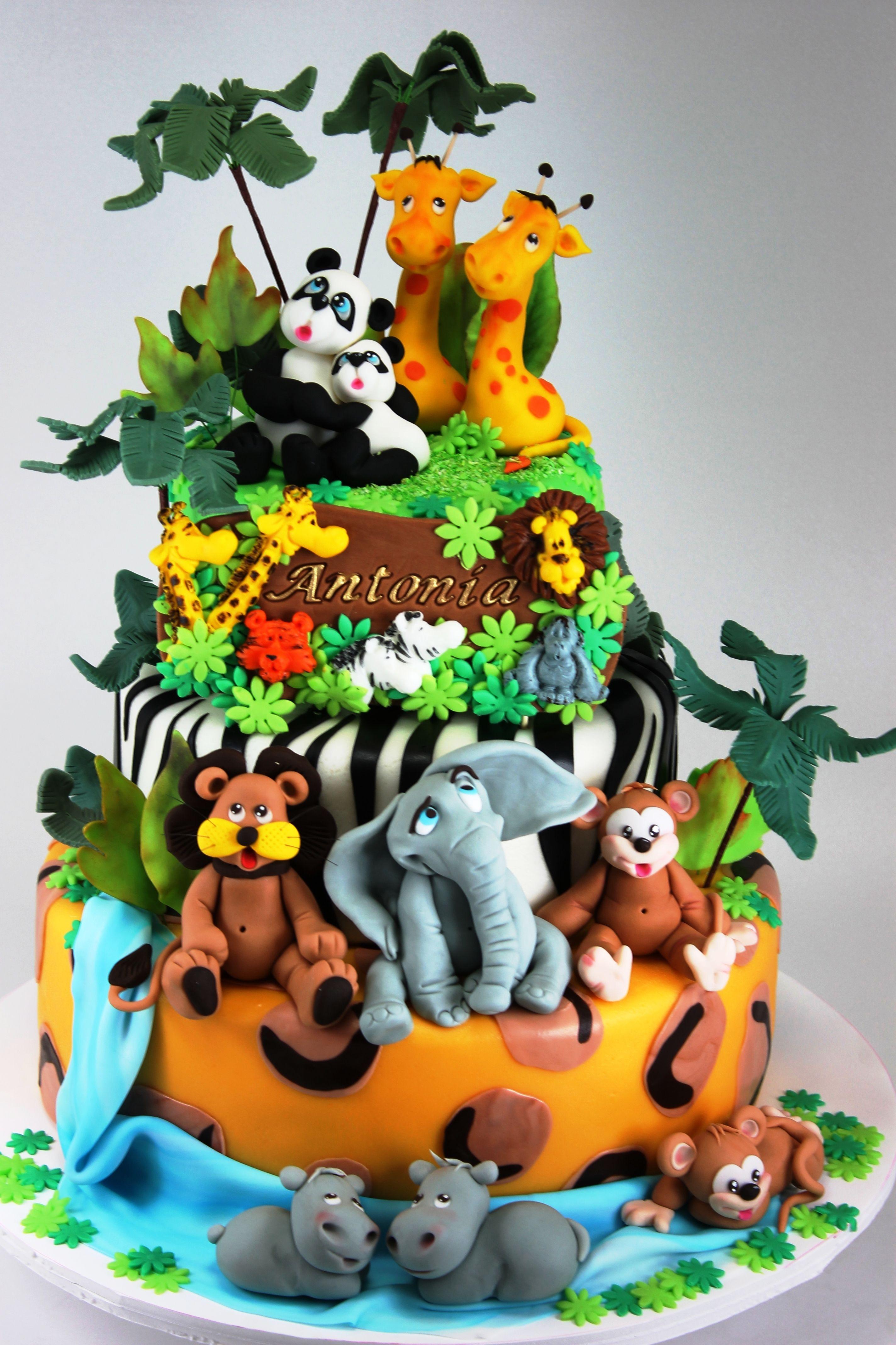 Jungle, Safari, and Zoo Cake Ideas & Inspirations Jungle