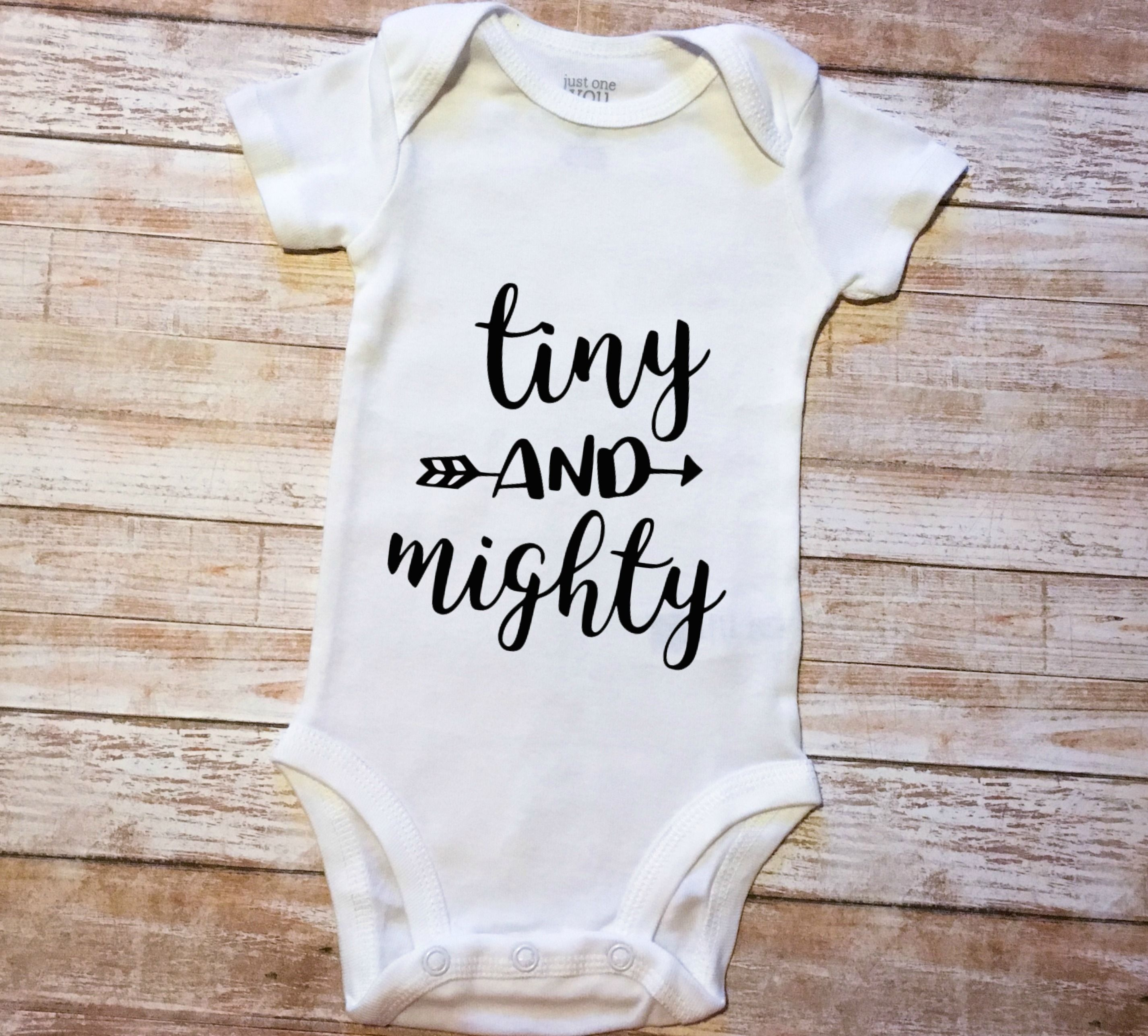 Tiny and Mighty Baby Newborn SVG and DXF EPS Cut File