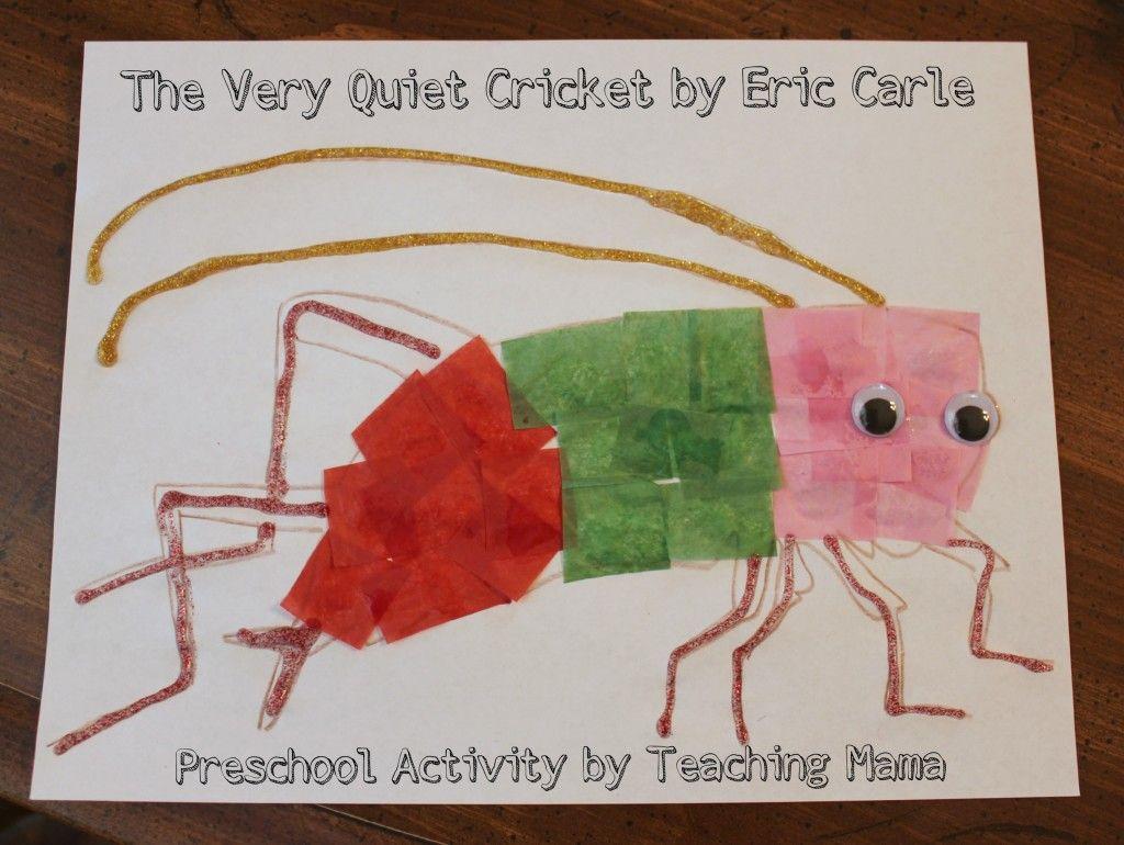 The Very Quiet Cricket Preschool Activity