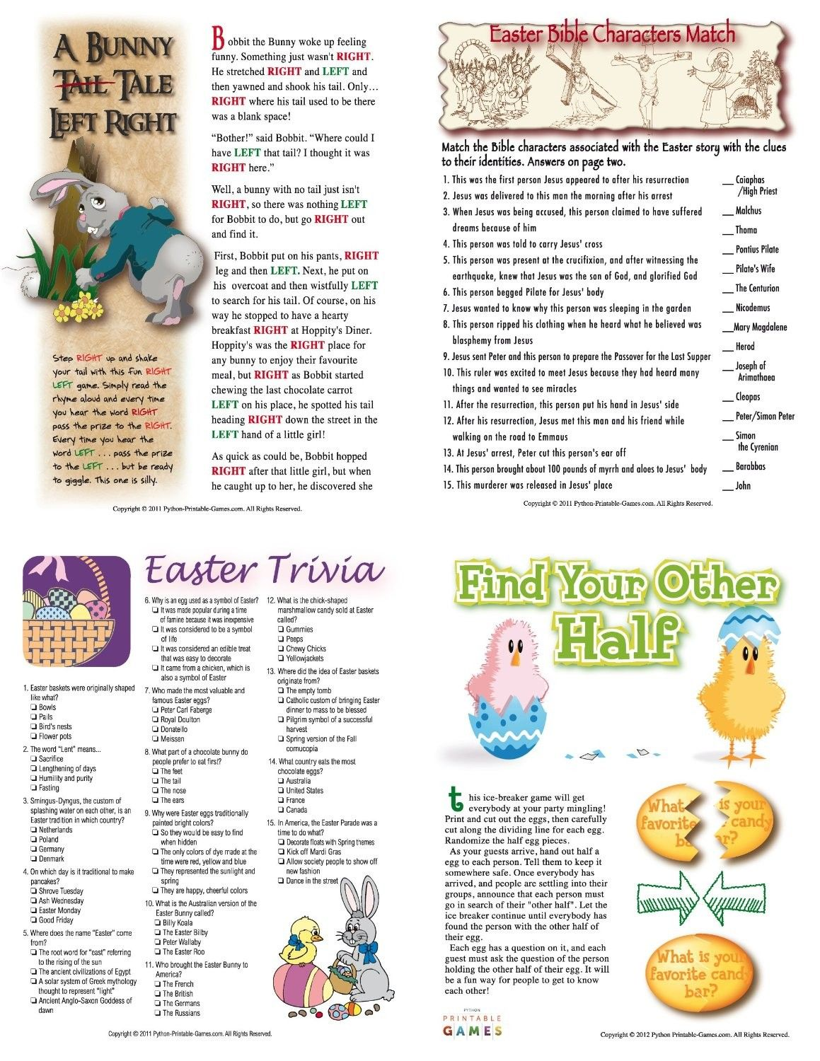 Egg Facts Trivia Printable Game For Mac