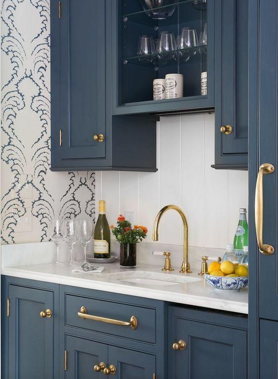 Blue Cabinets Casa De ABD Pinterest Kitchens Wet
