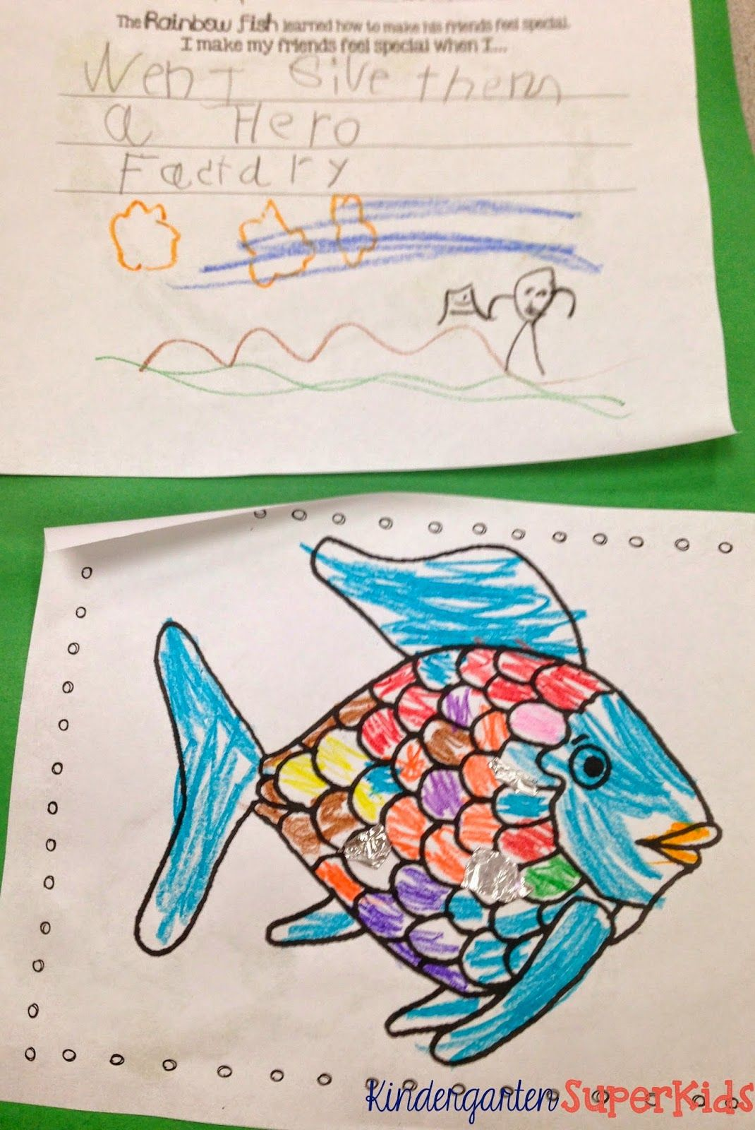 Free Rainbow Fish Coloring And Writing Activity