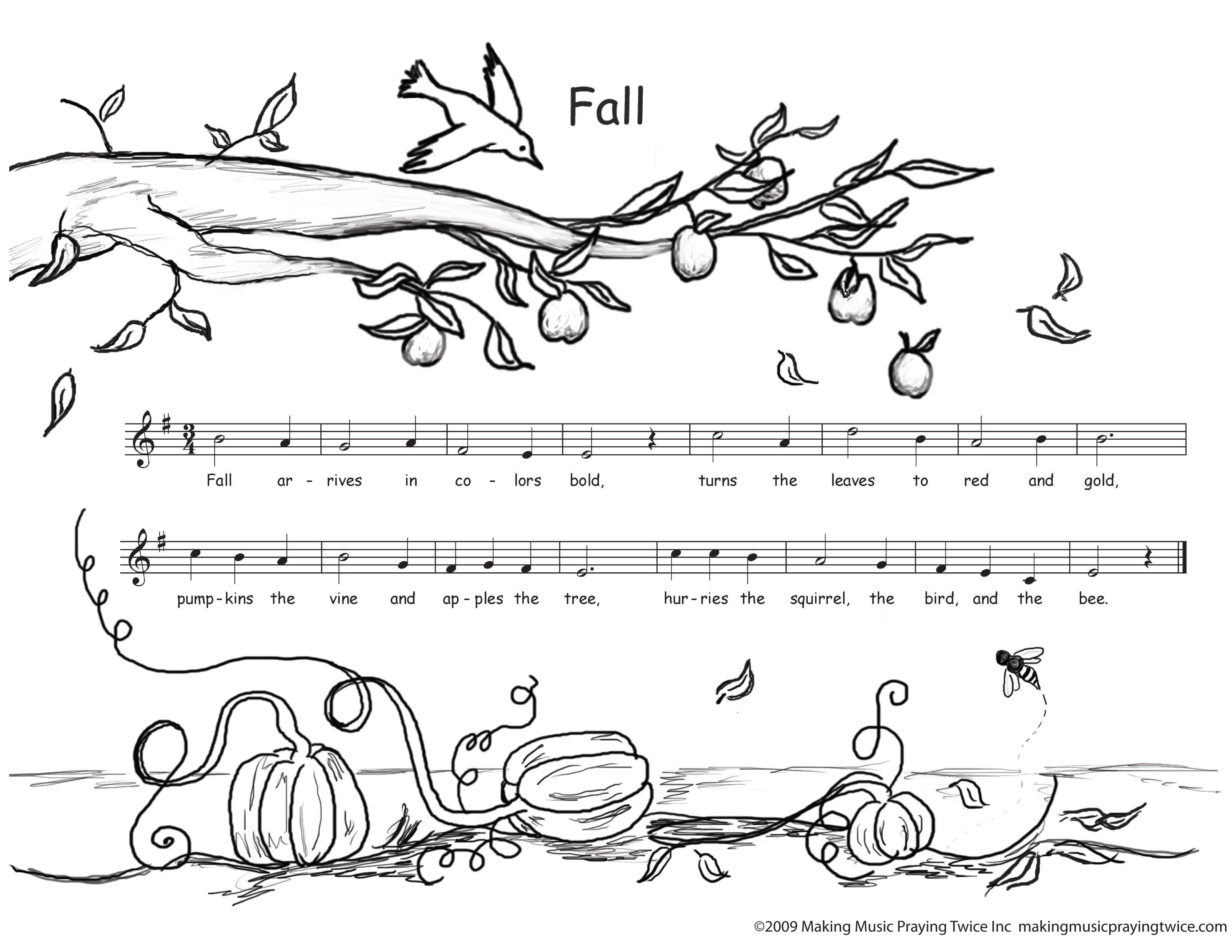 Autumn Coloring Pages