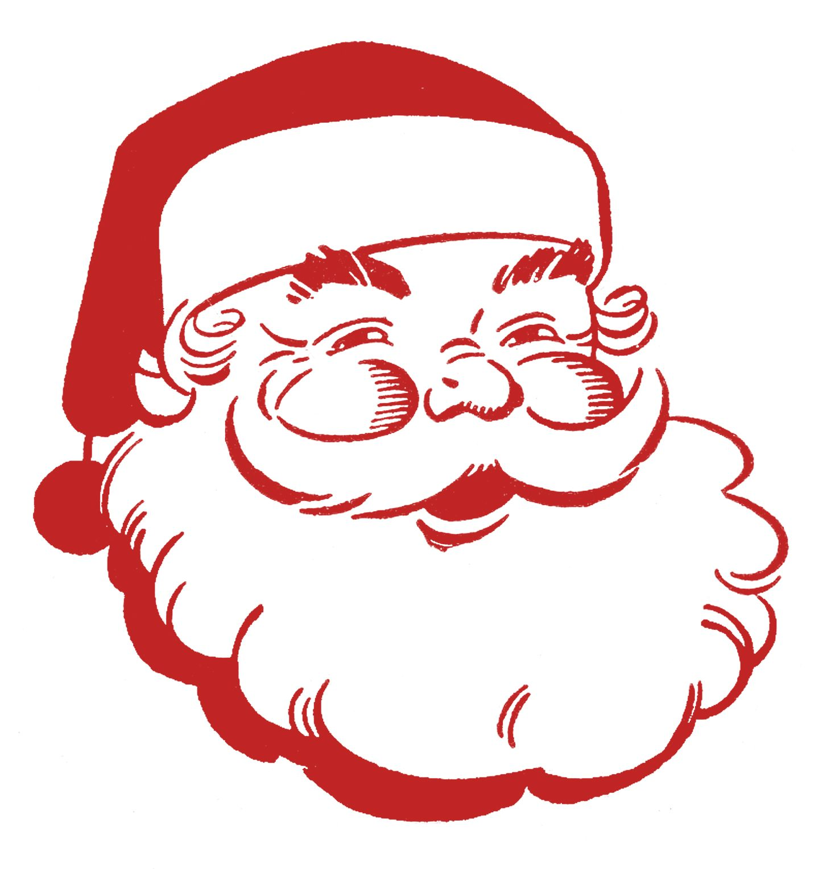 Retro Christmas Clip Art Jolly Santa Retro christmas
