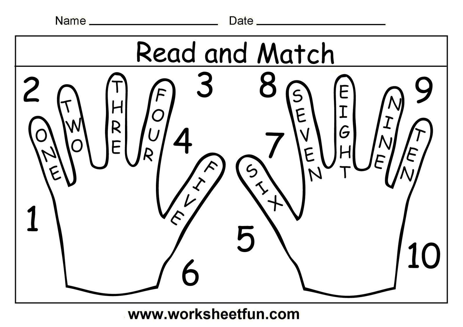 Word Numbers Worksheets Barongs Preschool