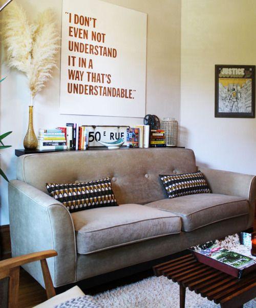 Regal hinter Sofa Living Room Pinterest Sofa, Wohnzimmer bunt und Raumtrenner