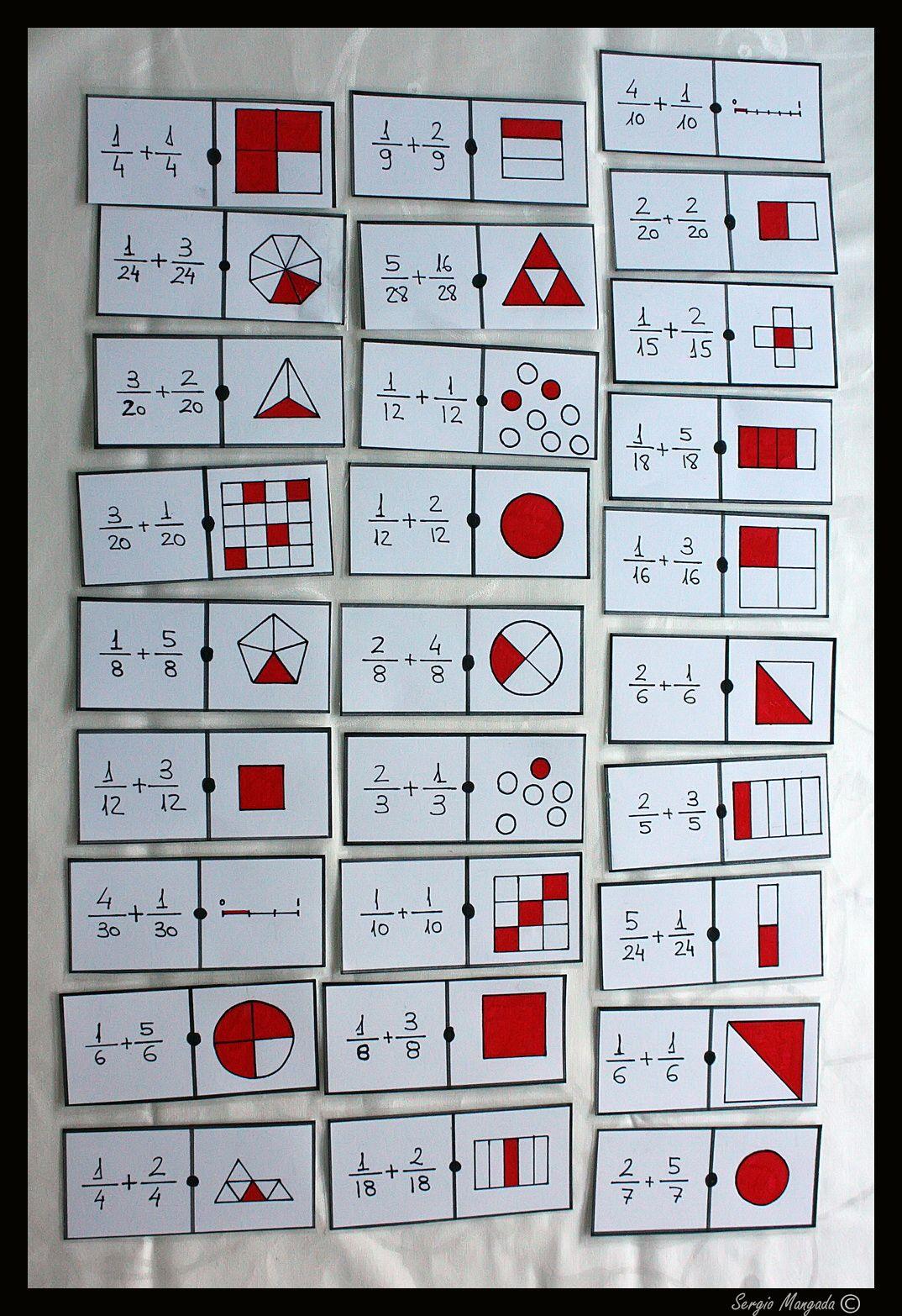 Domino Matematico Completo De Suma De Fracciones