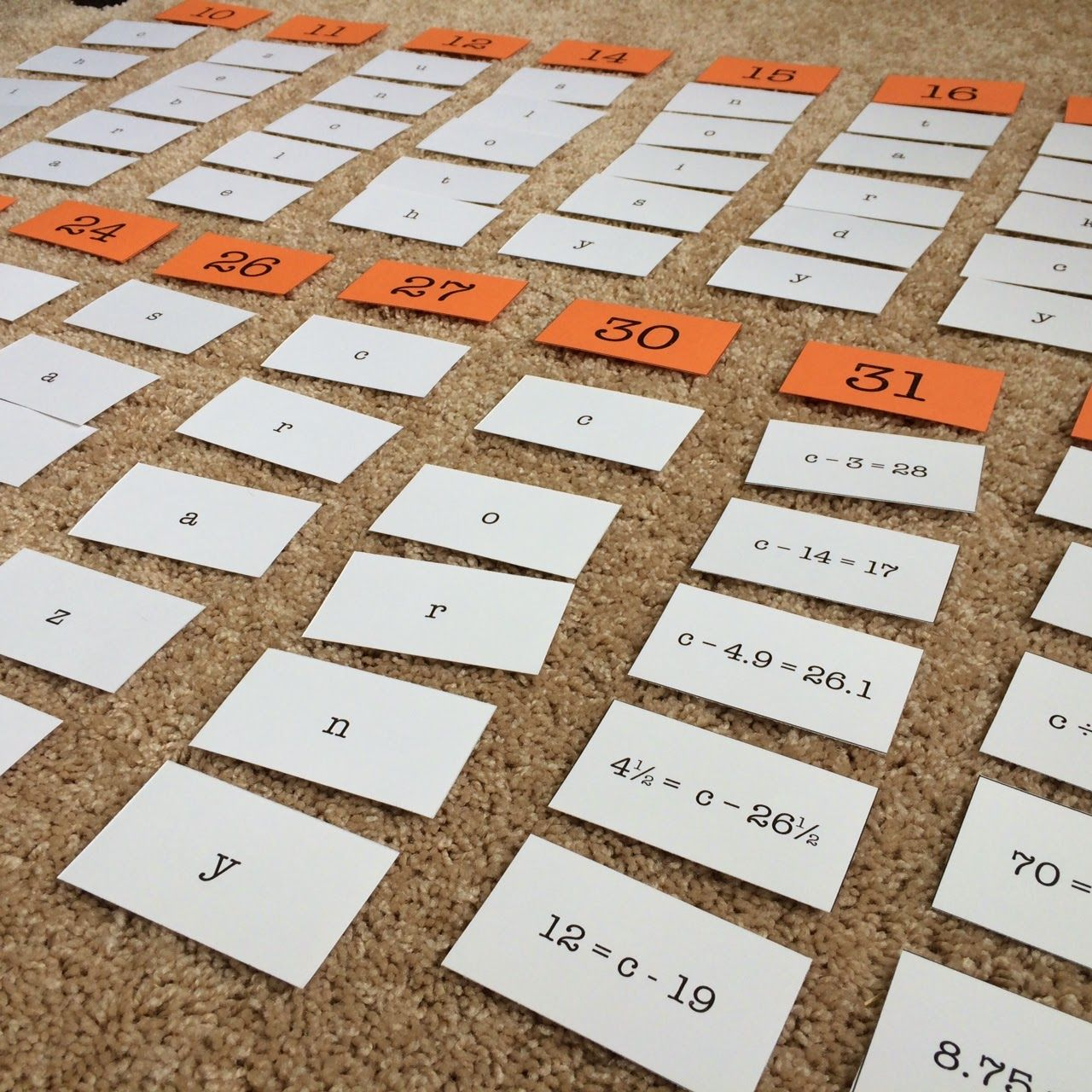 Equation Algebra Sort My 6th Grade Students Really Loved Sorting These Equations Based On Their