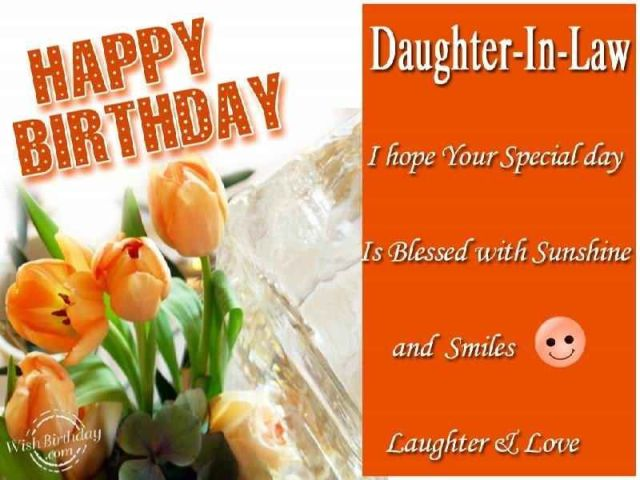 Happy birthday daughterinlaw days sayings