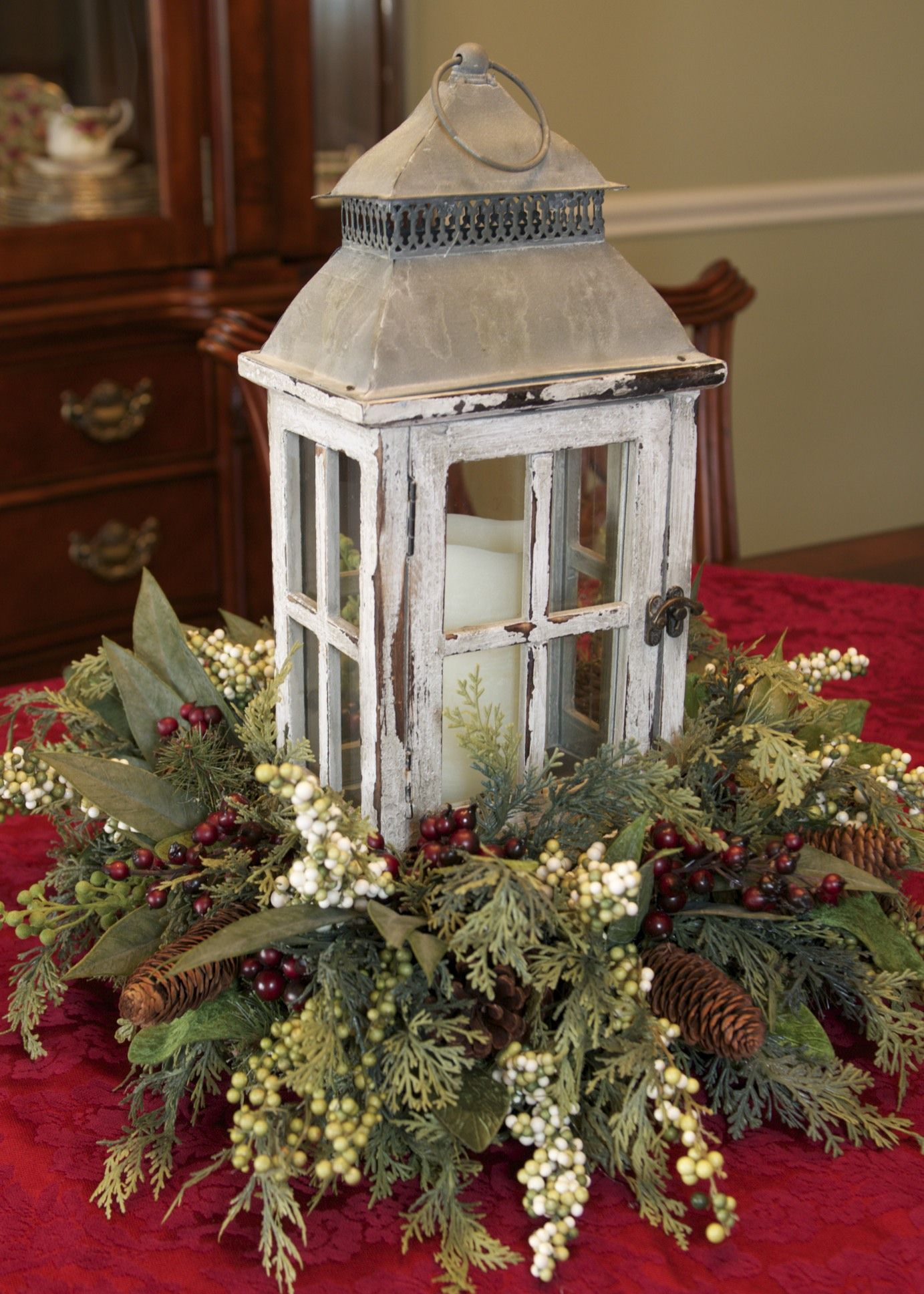Winter Lantern Centerpiece by Linda Rosia. It's the Most