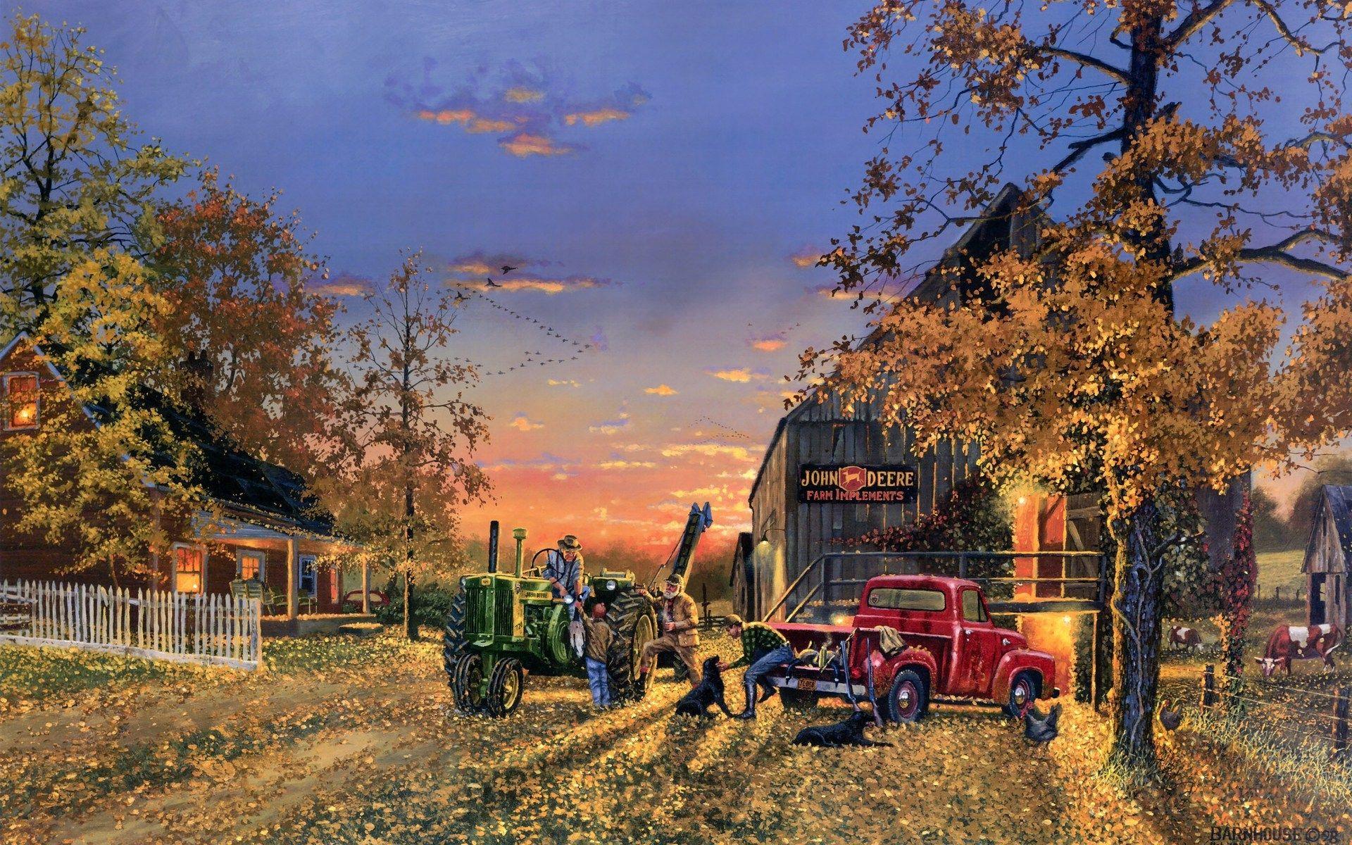 fall farm scenes backgrounds autumn fall seasons
