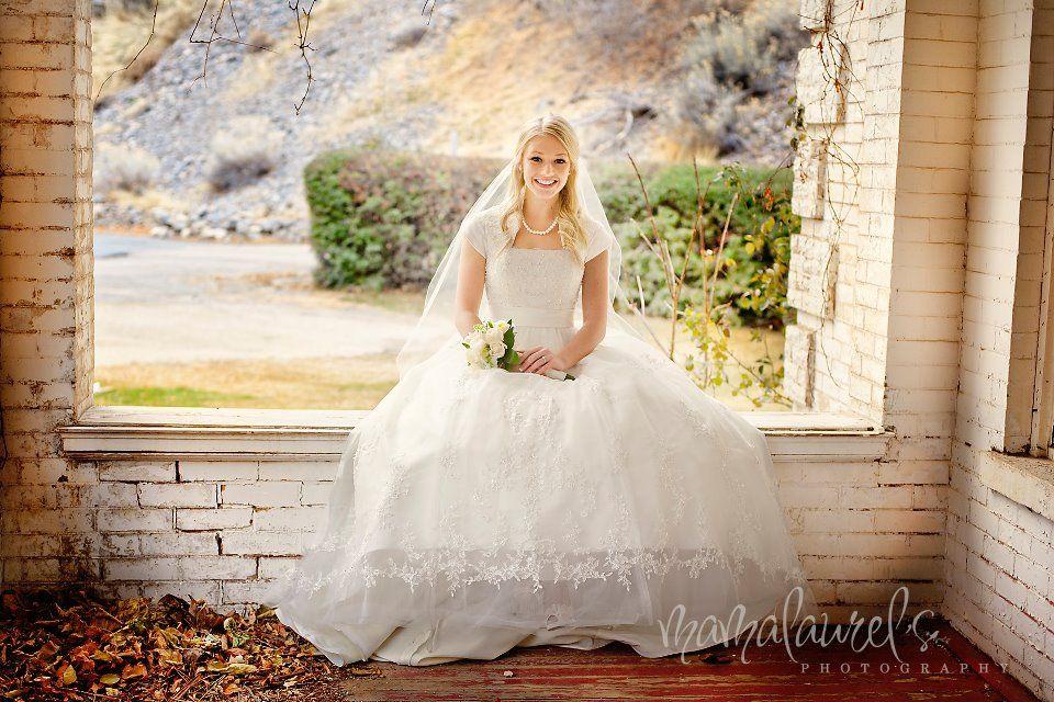 A Slight Empire Waist And Ball Gown Skirt On This Modest