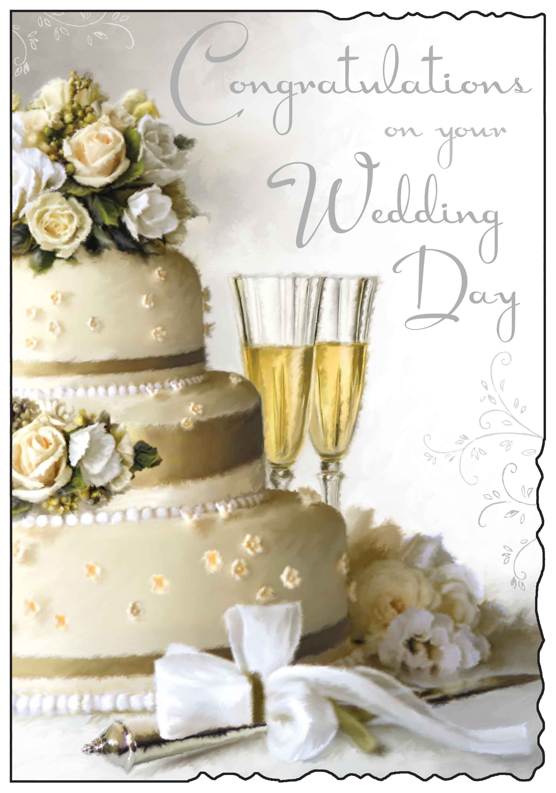 Congratulations on your wedding day card. Wedding