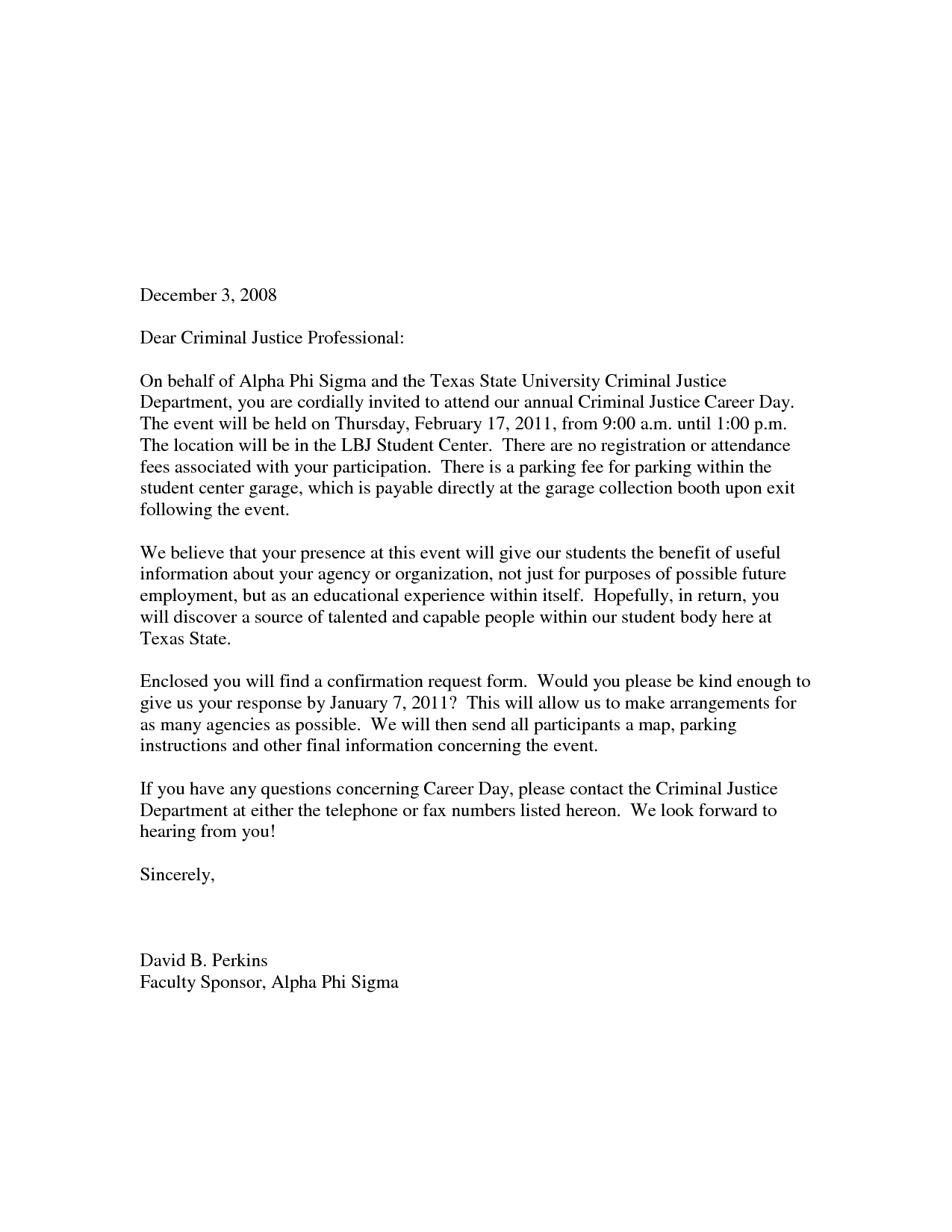 write a formal business invitation letter