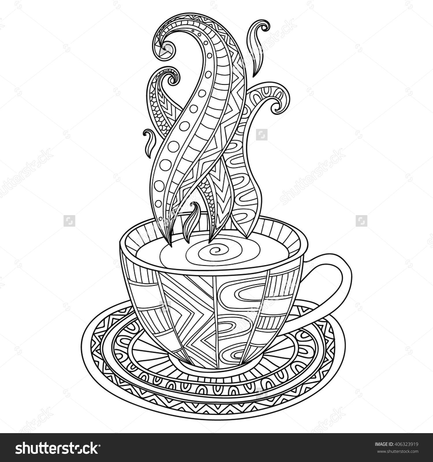 Coloring Coffee Cup Coloring Pages Biz With Mug Coloring