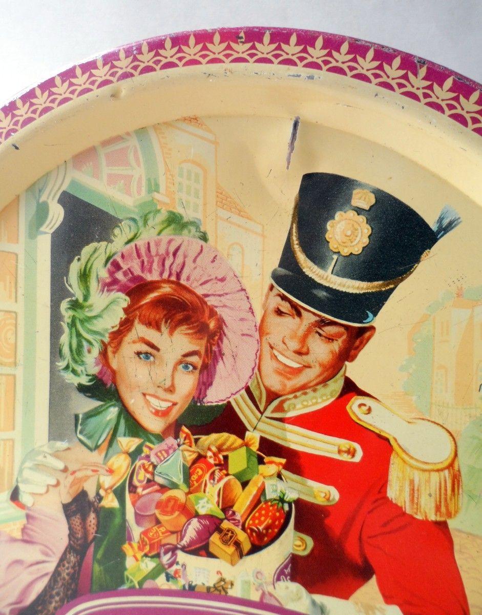 Vintage Christmas Toffee Chocolates Tin Quality Street