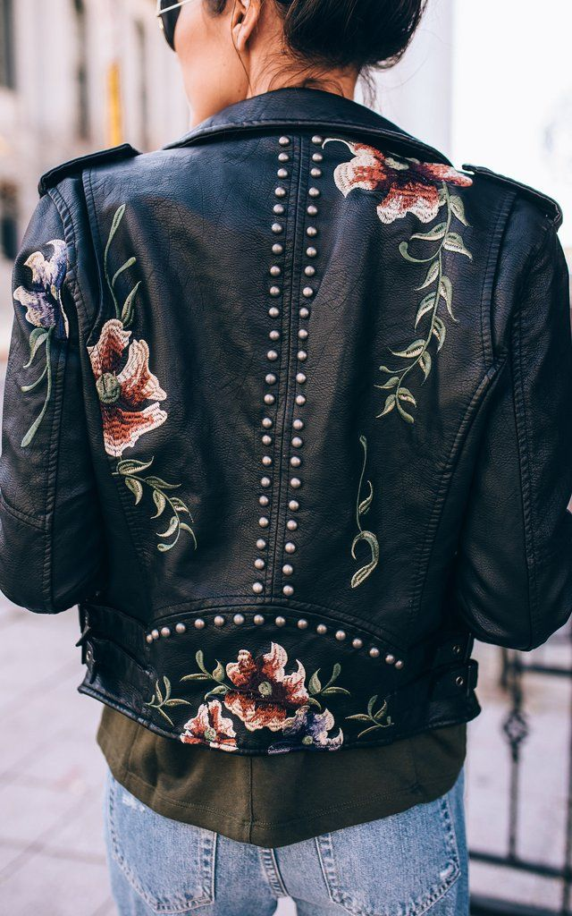 Embroidered Leather Jacket Wish list Pinterest