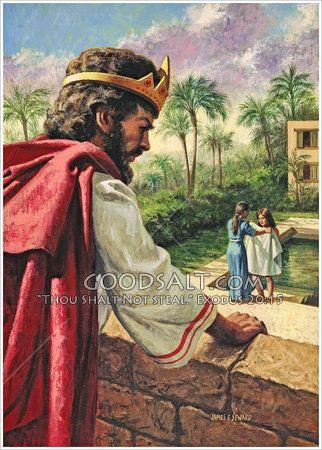 King David seeing Bathsheba as illustrated by Jean Leon Gerome.