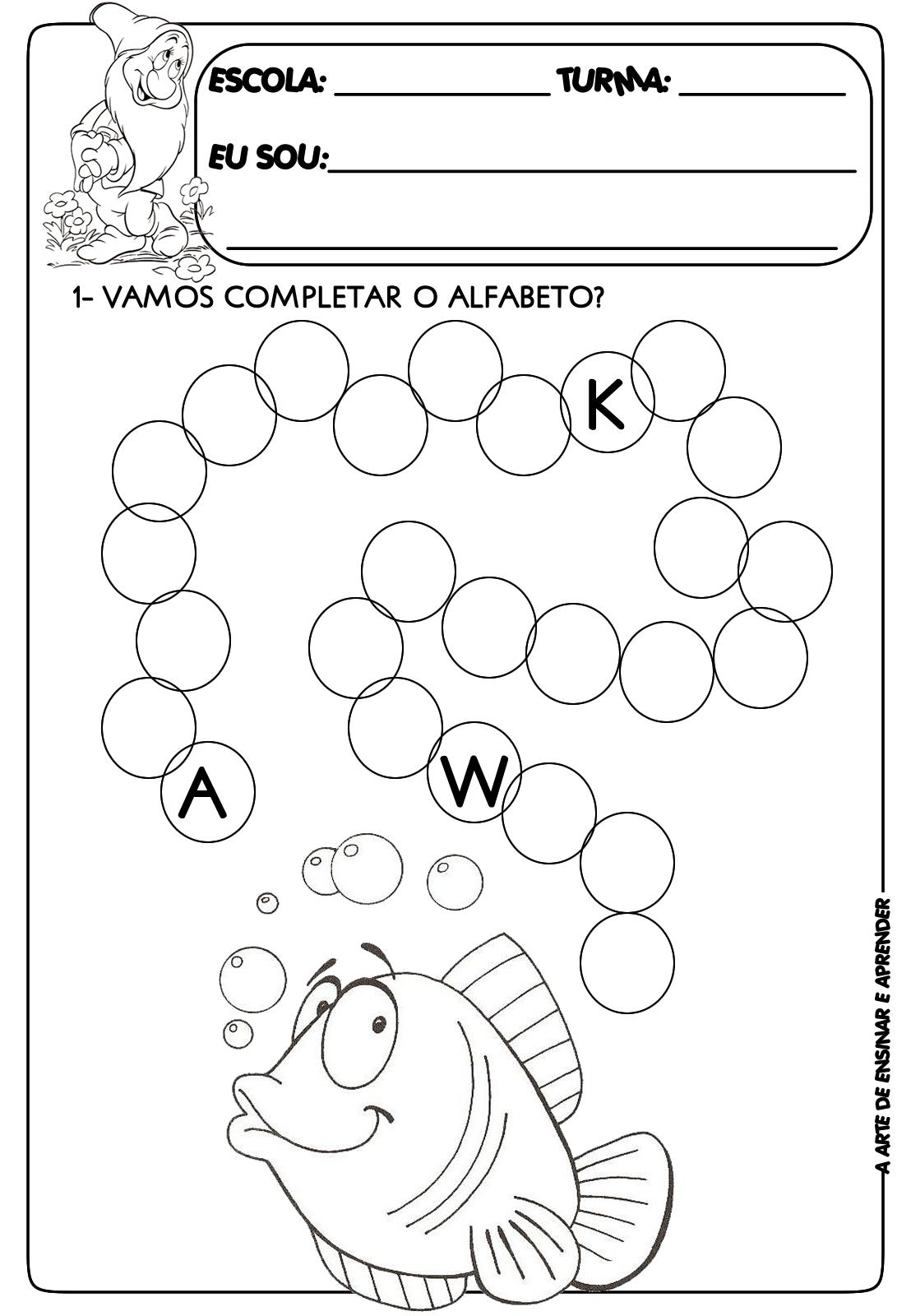 Atividade Pronta Sequencia Do Alfabeto