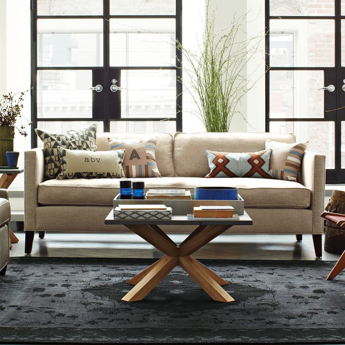 west elm axis coffee table decor living room