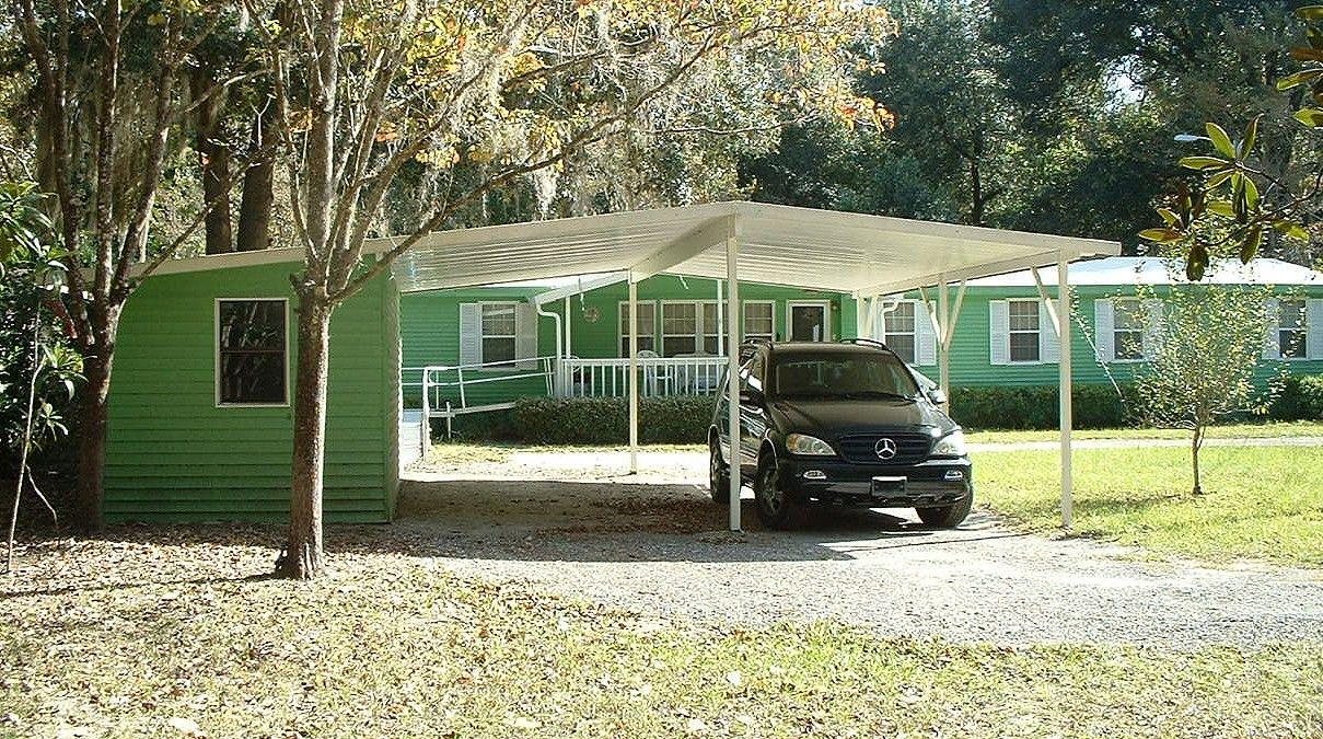2car Carport with Storage Building. Gainesville, Florida