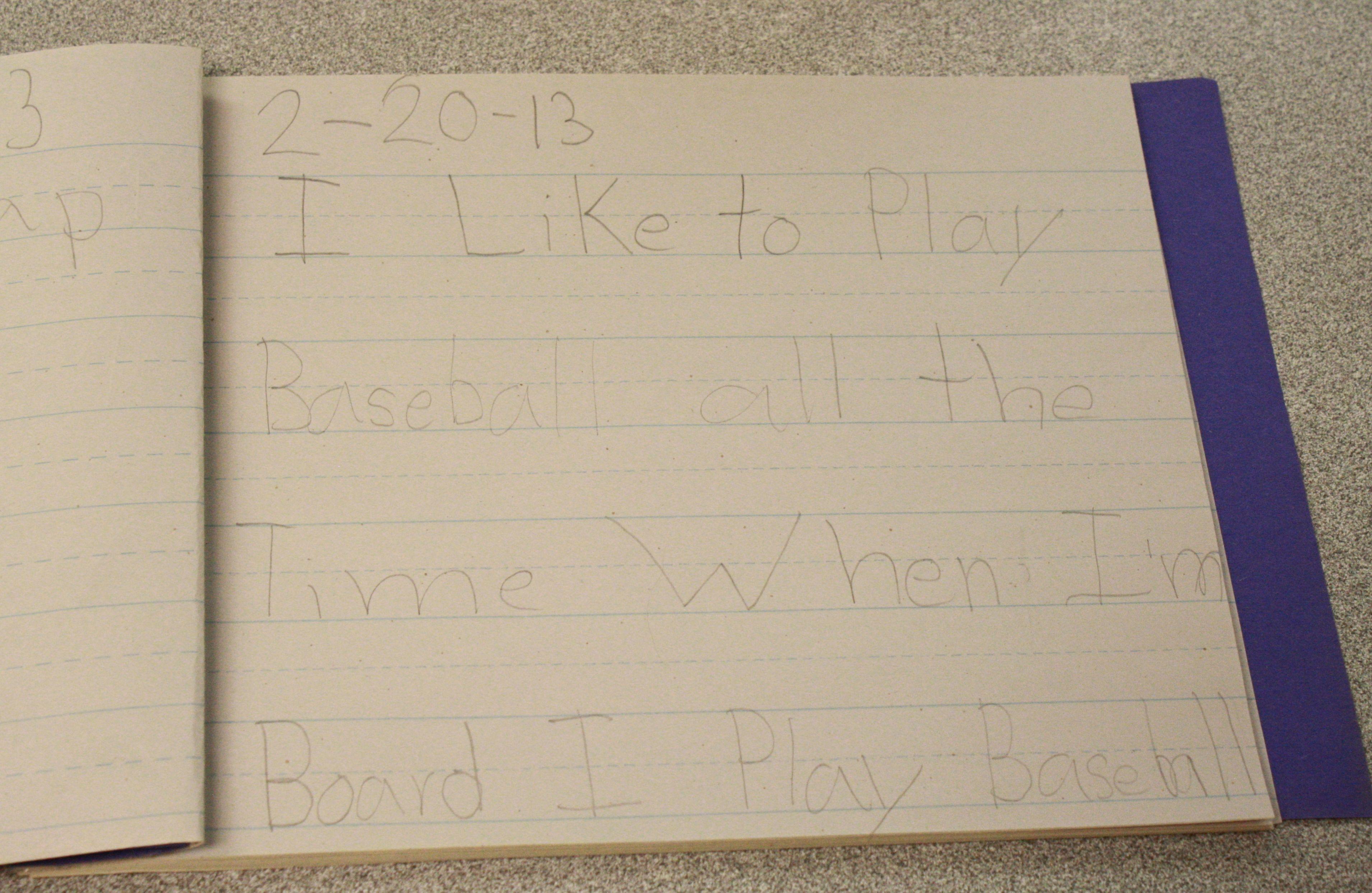 Kindergarten Journal Writing